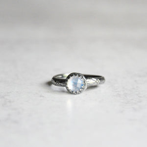 Rainbow Moonstone Stackable Ring
