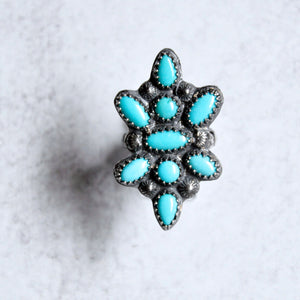 Southwest Turquoise Ring  No. 2 • Size 8 US