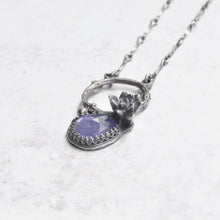 Load image into Gallery viewer, Tanzanite + Succulent Pendant