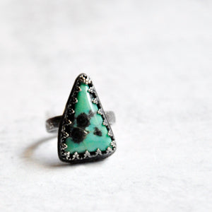 Triangle Turquoise Ring  No. 1 • Size 6.25 US
