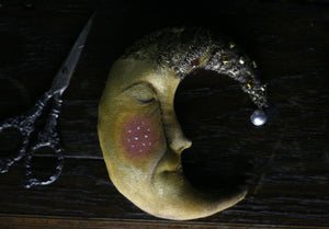 Yellow Moon Face Ornament