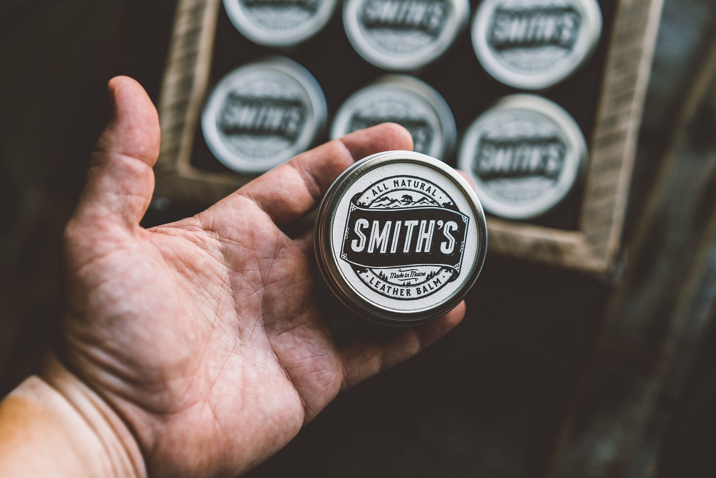 Smith's Leather Balm 100% All Natural Leather Conditioner 1 oz. tin