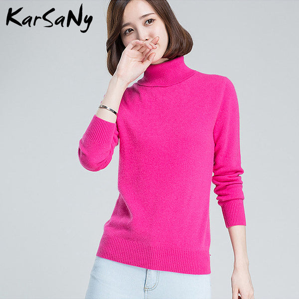 Turtleneck Sweater Women Plus Size Wool Long Sleeve Women's Cashmere Sweater Women Pull Femme Hiver Womens Sweaters 2019 Winter