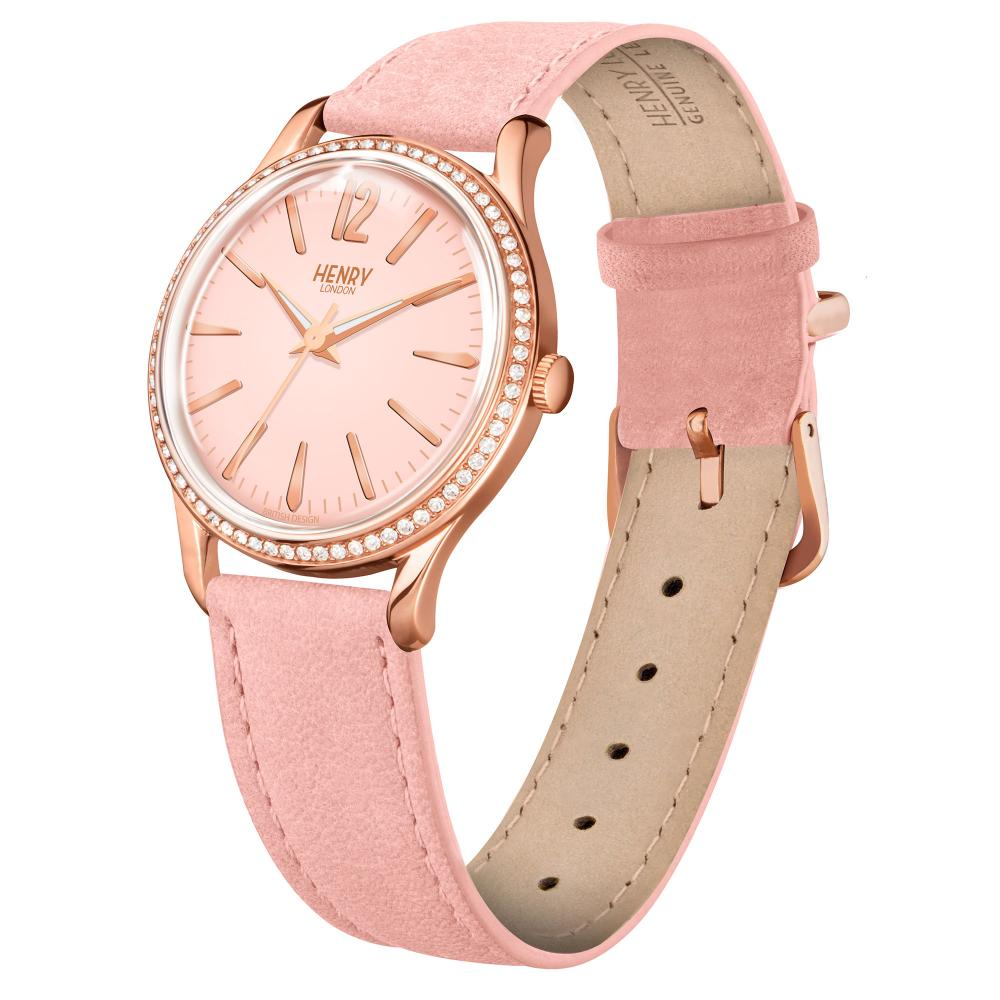 Henry London Watch 34mm / Pink/Rose Gold Shoreditch