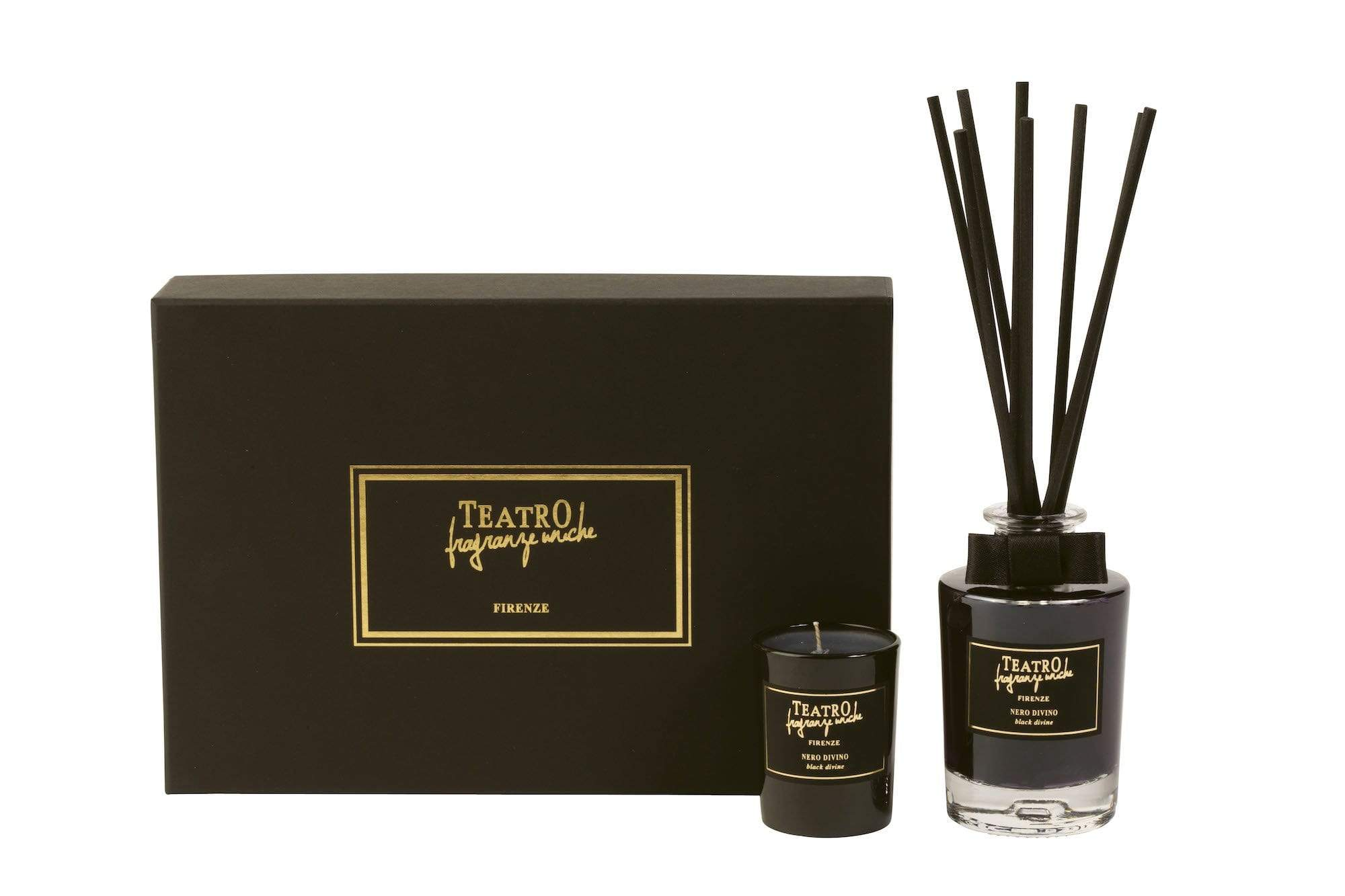 Black Divine Gift Box Diffuser & Candle (2 Sizes)