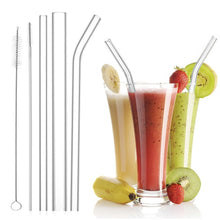 Load image into Gallery viewer, Glass Drinking Straws (3-Pack)