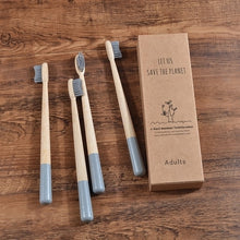 Load image into Gallery viewer, Bamboo Toothbrushes 4-Pack (+Plant a Tree)