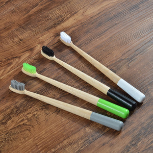 Bamboo Toothbrushes 4-Pack (+Plant a Tree)
