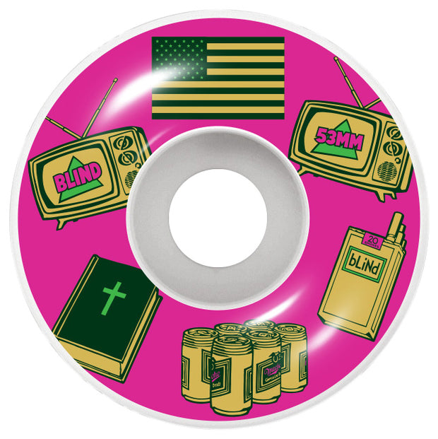 Blind American Icons Wheel Pink 53mm 101A