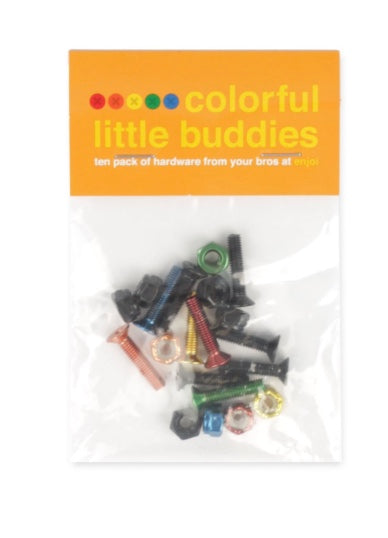 "Enjoi hardware colorful little buddies 1"" phillips"