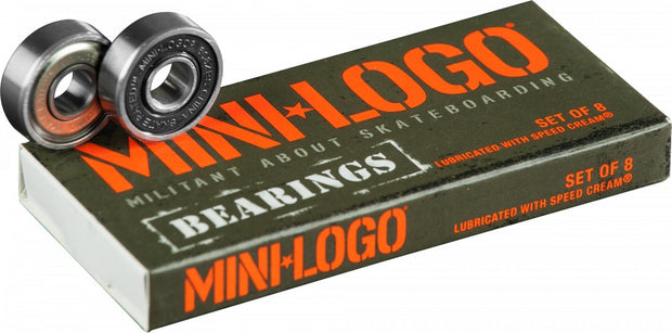 Mini Logo Skateboard Bearings Series 3 8mm Single 8 piezas