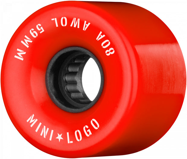 Mini Logo A.W.O.L. 59mm Red 80A