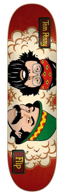 "Flip Tom Penny Toms Friends Stained Red 8.25"" Tabla de Skate"
