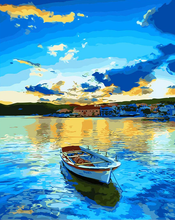 Load image into Gallery viewer, A Boat In Blue Sea