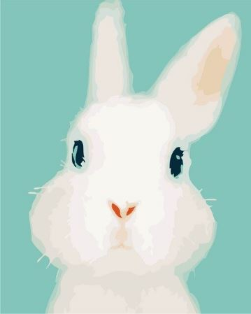 Cute Rabbit Painting - Paint by Numbers Kit
