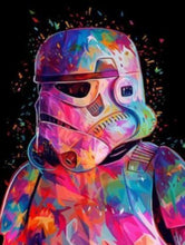 Load image into Gallery viewer, Colorful Storm Trooper - Painting