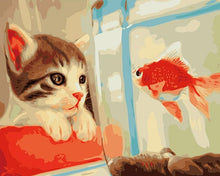 Load image into Gallery viewer, Cat And Fish