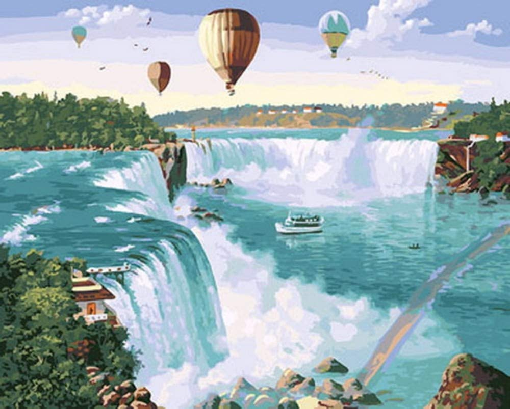 Air Balloons Niagara Falls Painting by number