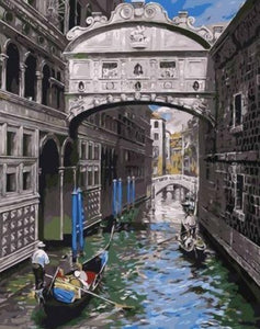 Water Alleys - Paint by Numbers