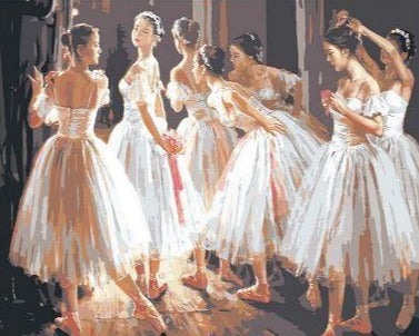 Ballet Dancer Girls - Paint by Numbers Kit