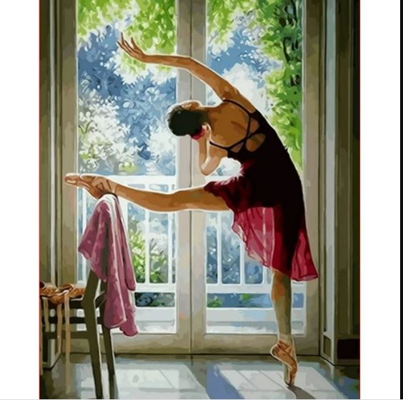 Ballet Dancer Girl - Paint by Numbers