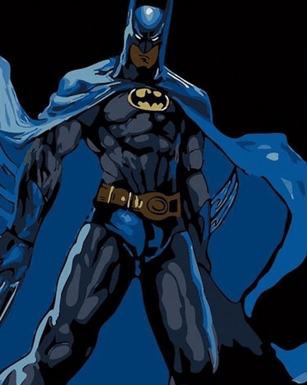 Batman In Dark paint by numbers kit