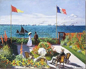 French Seaside Garden - Paint by Numbers