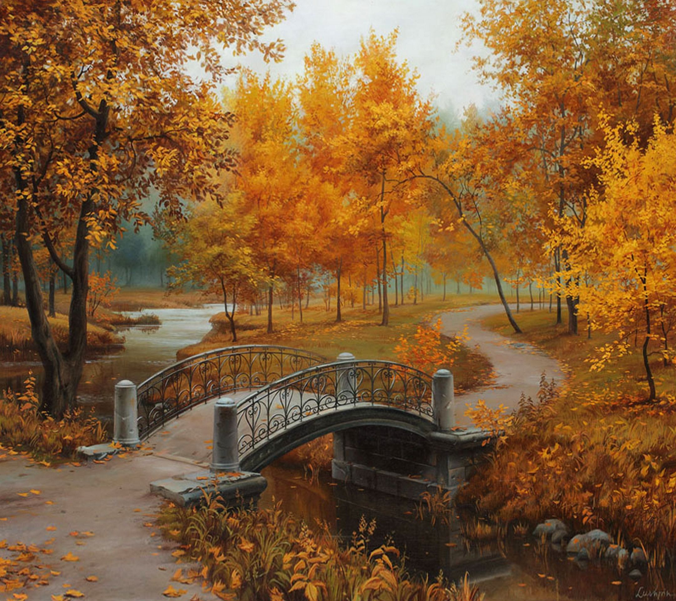 Autumn Season Scene Painting by numbers
