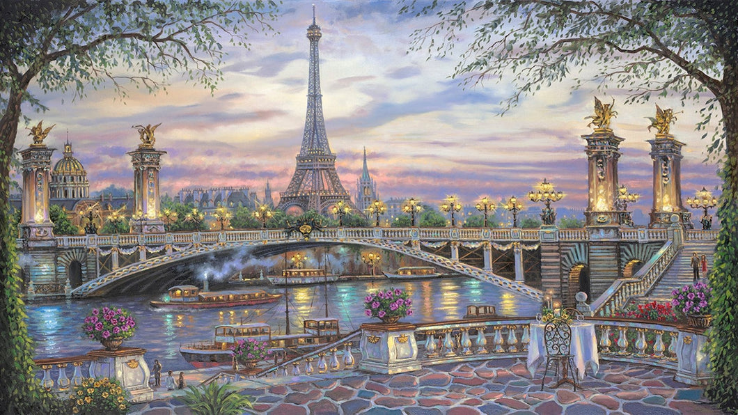 Eiffel tower paint by number