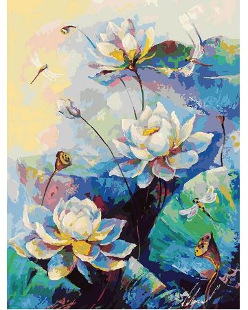Beautiful Flowers For Home Decor - Paint by Numbers Kit