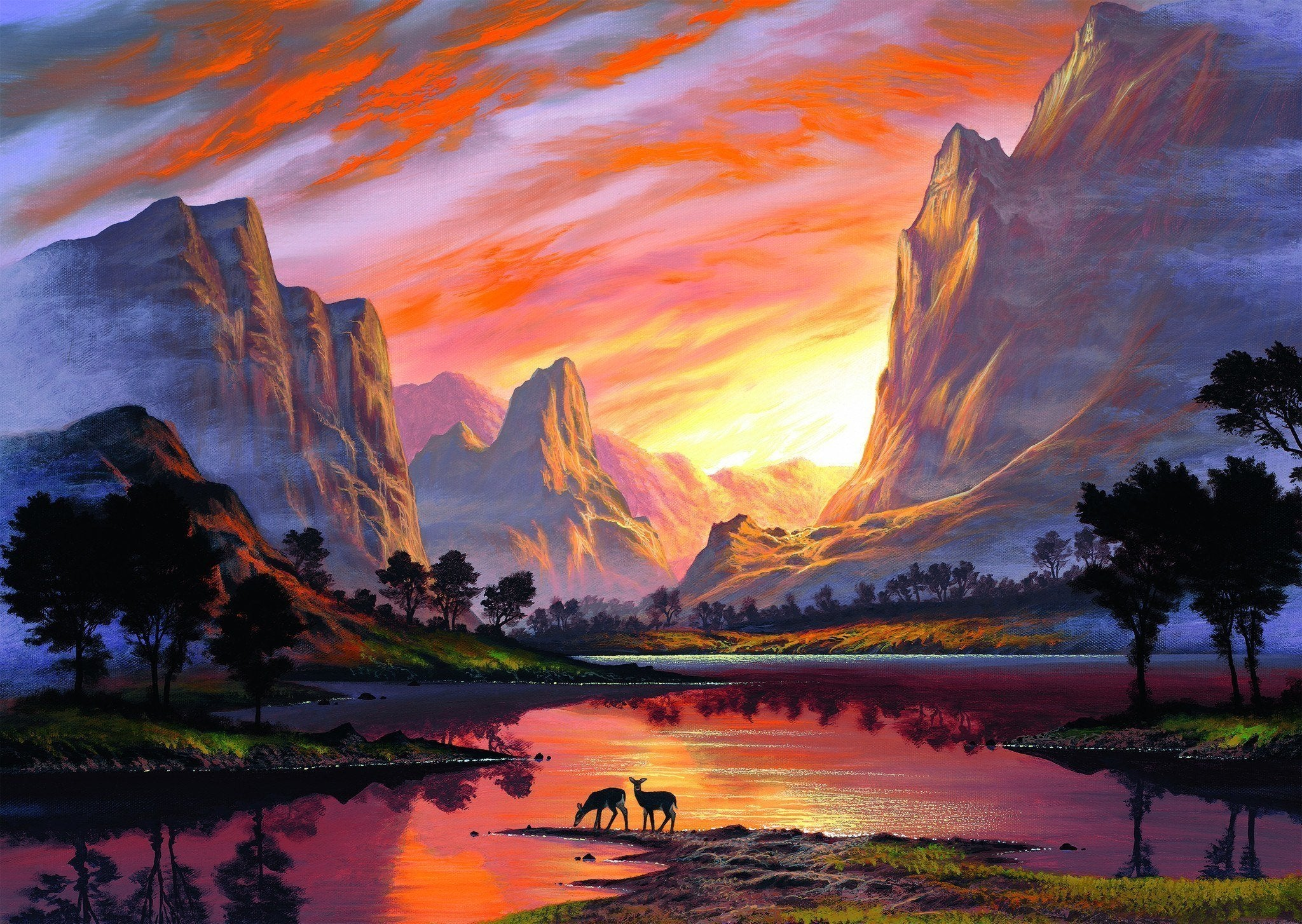Beautiful Nature view painting by number