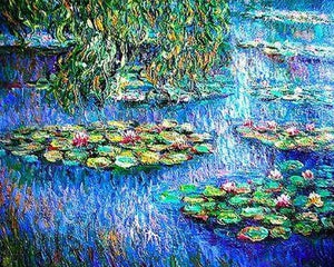 Beautiful Pond Painting By Monet - Paint by Numbers