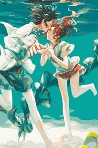 Anime Underwater kissing - Paint by  Numbers kit