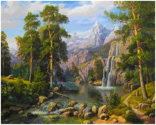 Load image into Gallery viewer, Waterfall Scene Painting by numbers