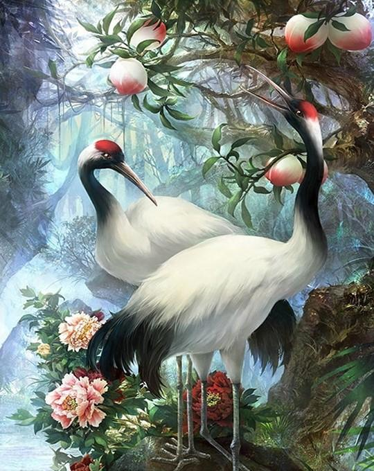 Beautiful Cranes  Painting