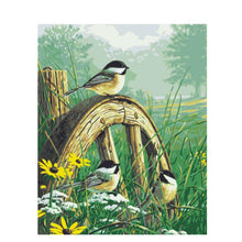 Load image into Gallery viewer, Birds in Garden painting