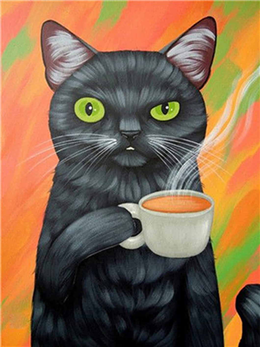 Black Cat Painting By Numbers kit
