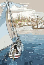 Load image into Gallery viewer, Sailing Boat - Paint by Numbers