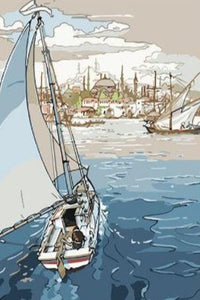 Sailing Boat - Paint by Numbers
