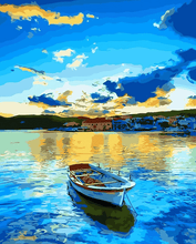 Load image into Gallery viewer, Lake scene painting kit