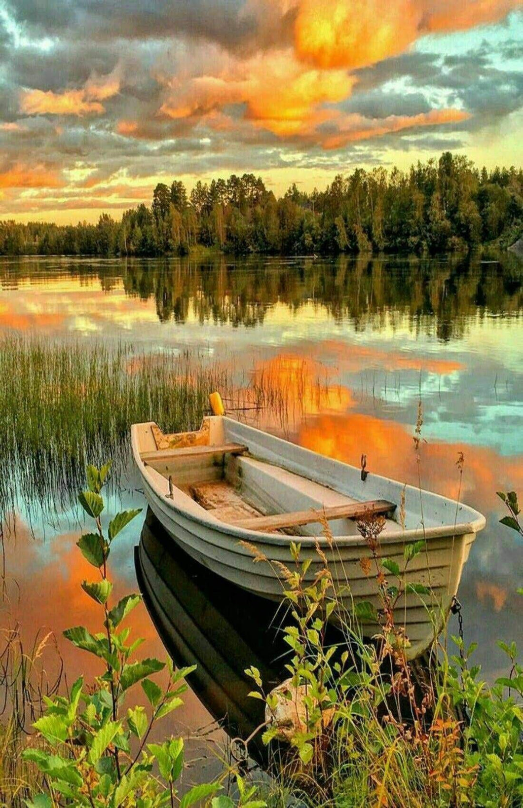Boat in Lake Paint By Numbers kit
