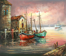 Load image into Gallery viewer, Boats In Water DIY Painting Kit