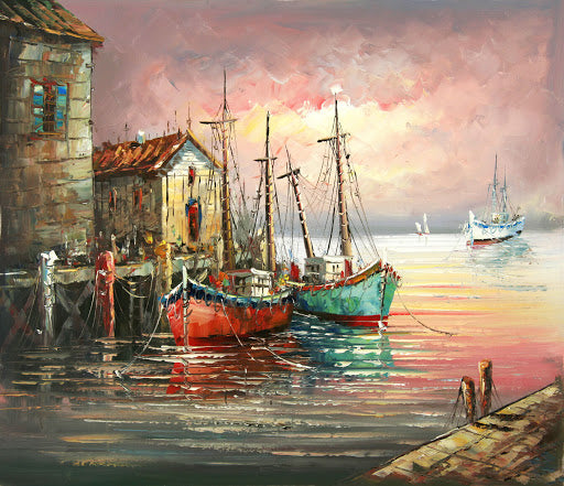 Boats In Water DIY Painting Kit