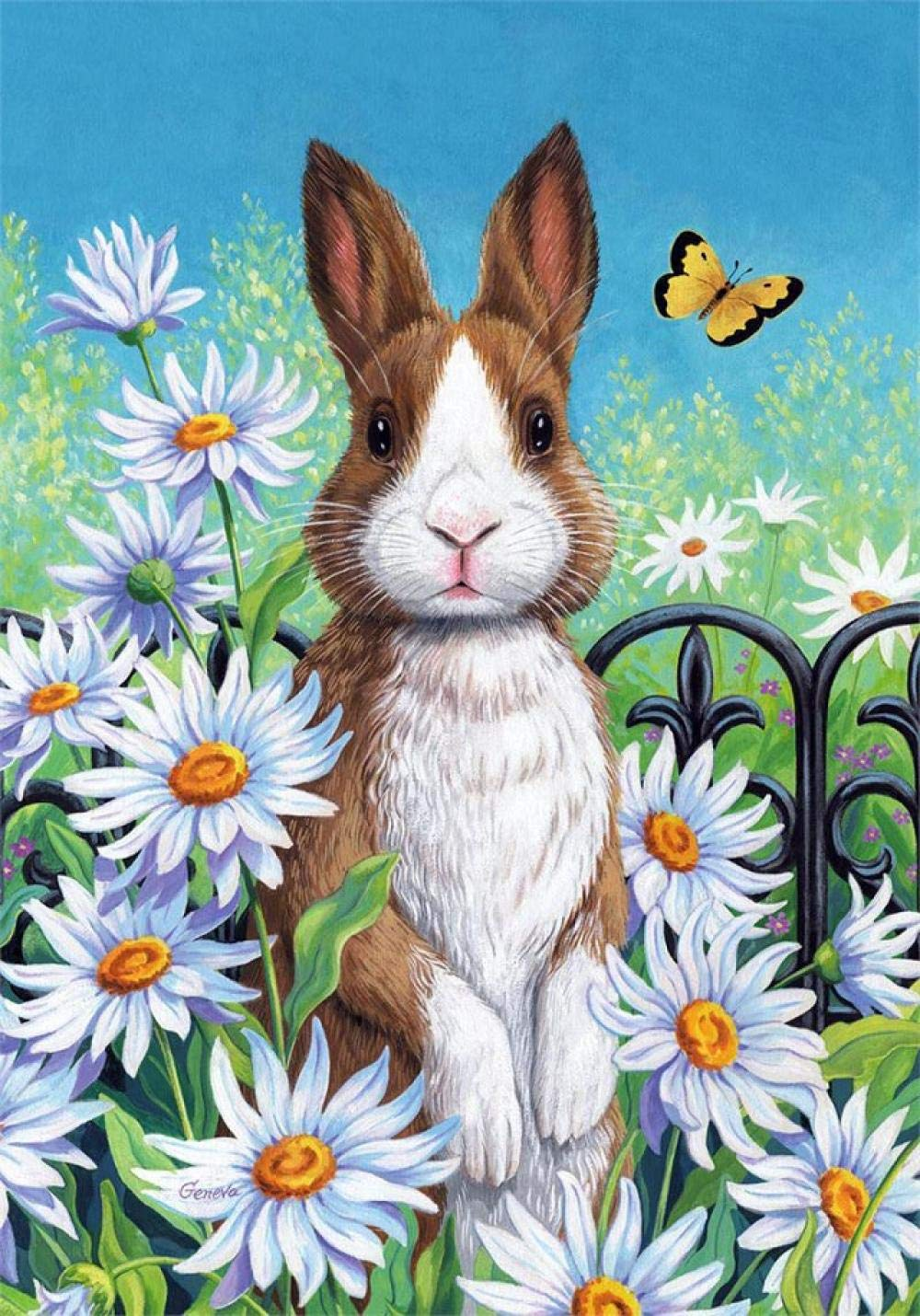 Bunny In a Field Paint by Numbers