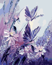 Load image into Gallery viewer, Butterfly Purple Painting DIY Kit