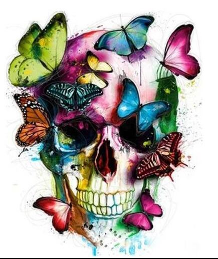 Colorful Skull Painting - Adult Paint by Numbers Kit