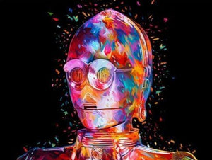 Colorful C3PO Star wars - Paint by Numbers Kit
