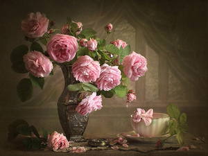 Camellia Flower Europe Painting