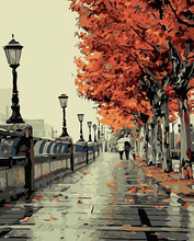 Load image into Gallery viewer, City autumn scene painting kit