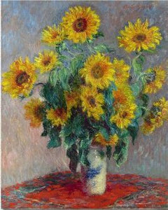 Sunflower Painting by Monet - Paint by Numbers